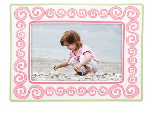 Merry Go Round Little Girl with a Curl Frame 4X6