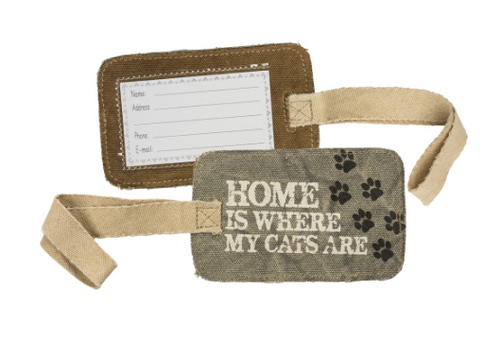 Luggage Tag - Home is Where My Cats Are