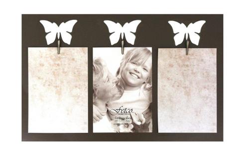 Fetco Home Decor Mirage Pierced Photo Frame, Butterflies