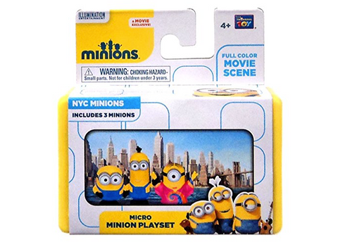 """Despicable Me Minions Movie NYC Minions 2"""" Micro Playset"""