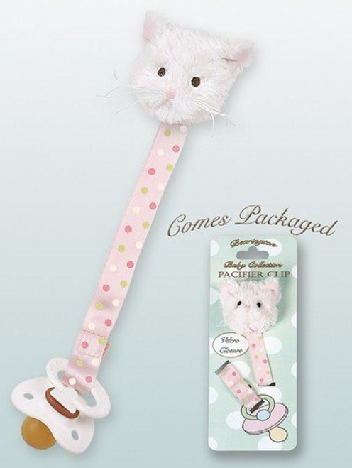 Bearington Collection Purrfect Kitty Pacifier Clip