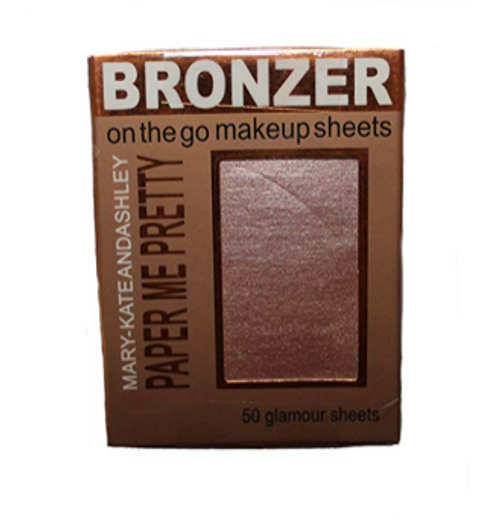 Mary-Kate and Ashley Paper Me Pretty BRONZER on the go makeup sheets