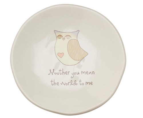 Mother you Mean the World to me ceramic keepsake dish