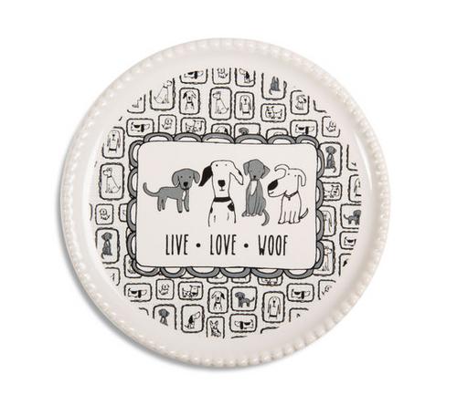 Live Love Woof Coaster Cap Dish