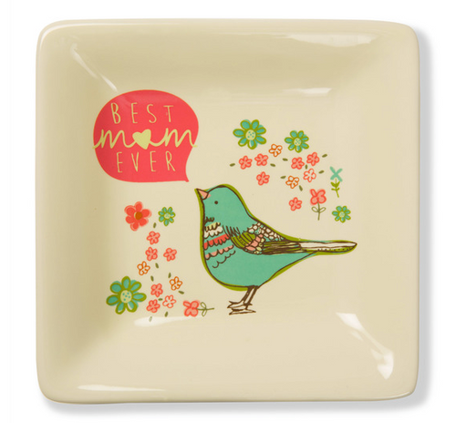 Best Mom Ever Ceramic Keepsake Saucer
