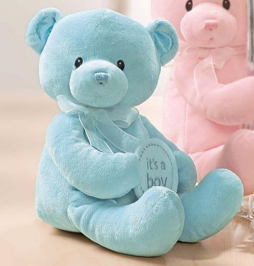 It's A Boy Message Vase Hugger Bear