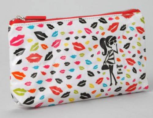 decodelire Paris White Kiss Cosmetic Bag