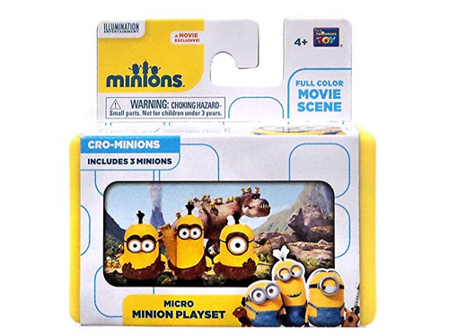 Thinkway Despicable Me Minions Movie Cro-Minions 2-Inch Micro Playset