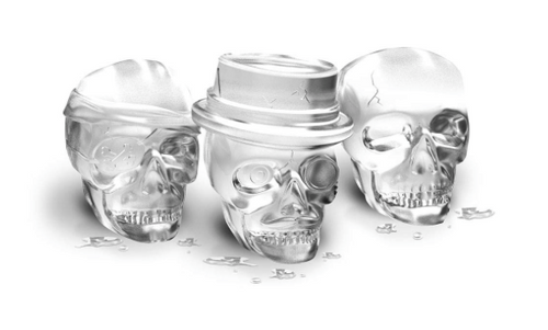 Bone Chilling Skull Ice Molds, Set of 3 by HomeWetBar