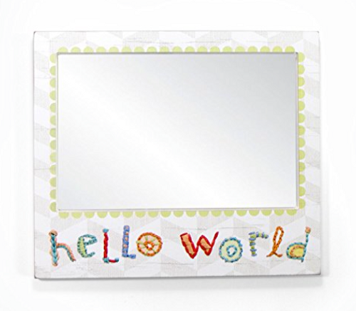 Primitives By Kathy Hello World Wall Mirror