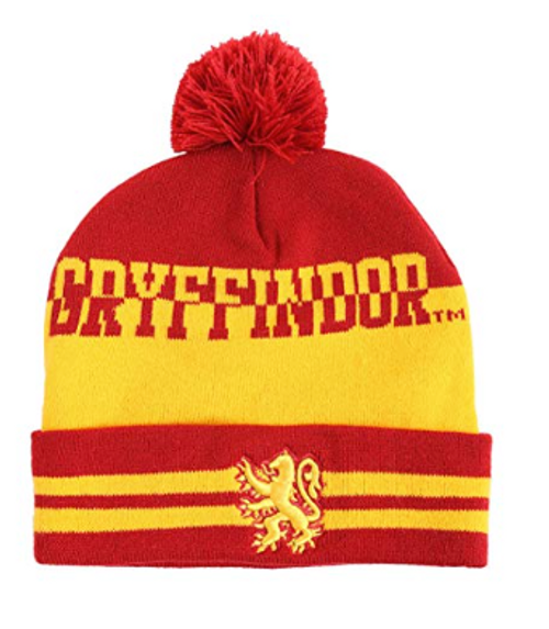 Harry Potter Pom Beanie | House Crest Collectors Edition (Gryffindor, Ravenclaw, Slytherin, Hufflepuff)