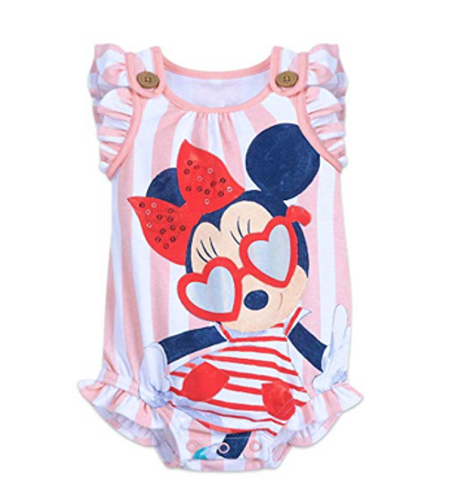 Disney Minnie Mouse Striped Bodysuit for Baby Size 3-6 MO Multi