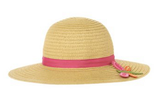 Gymboree straw Hat with butterfly 3-4