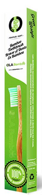 Ola Bamboo - Bamboo Toothbrush (Green)
