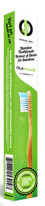 Ola Bamboo - Bamboo Toothbrush (Blue)