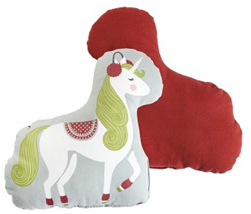Primitives by Kathy Winter Unicorn Shaped Pillow