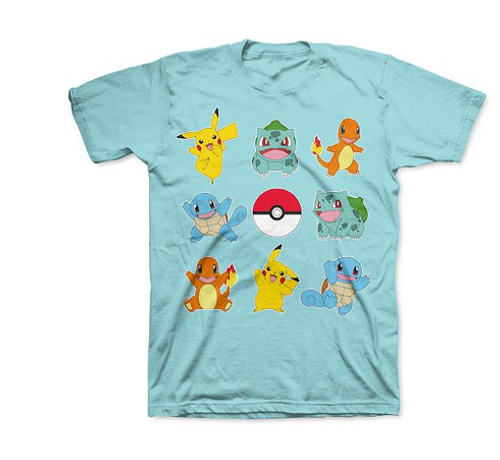 Pokemon Big Boys Ready for Battle T-Shirt