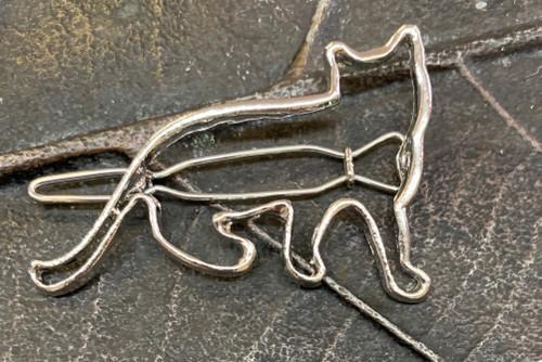 Cat Hair Clip- Silver