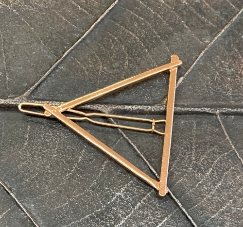 Triangle Hair Clip- Gold