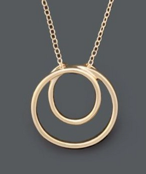 Giani Bernini Gold Circle Pendant Necklace