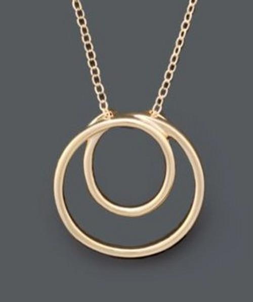Giani Bernini Gold Circle Pendant Necklace