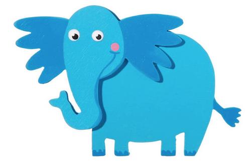 Darice 9189-77 Ella Elephant Cutout