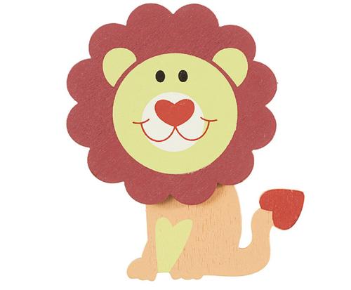 Darice 9189-65 Painted Leon Lion Cutout