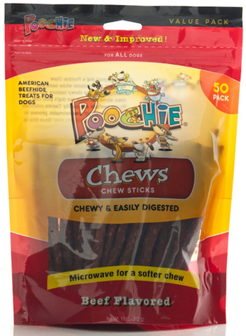 Beef  Chew  Sticks  Value  50 Pack .... PROMOTES  WHITER & CLEANER  TEETH OVER  TIME! Please View Video home page top center for benefits for family dog !