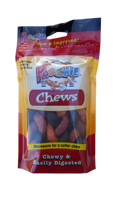 Beef, Bacon & Cheese  Mini Triple Braids Dog Treats- 4 Pack