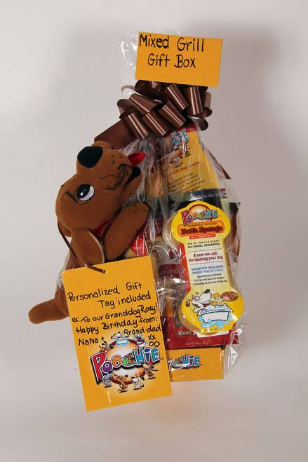 """Poochie """"Mixed Grill Lovers"""" -  Rawhide & Chicken Basted  Rawhide Value Gift Bowl & NO Filllers either...all Poochie Dog Treats!"""