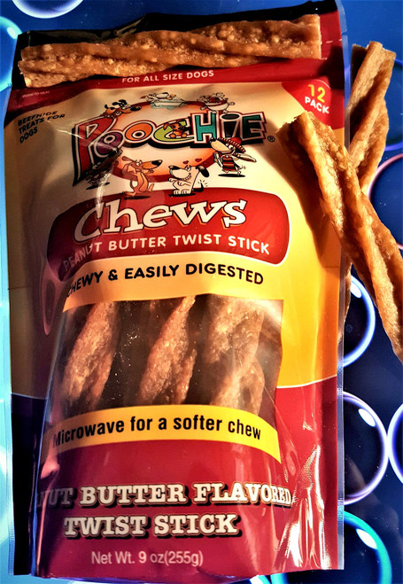Peanut Butter Twist Sticks Value - 12 Twist Sticks in each bag!  Who wants to do some twisting today?