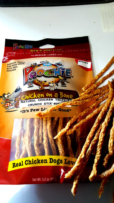 NATURAL CHICKEN TWIZZLE Stix' That are  Real Natural Chicken, gluten & grain free!