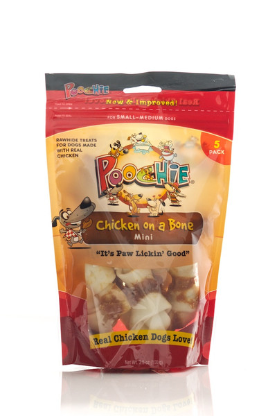 Poochie Chicken On A Bone -  7 Pack Mini Bones _ SPECIAL: Buy 12 Bags, get One Bag FREE! (Value of $9.99)