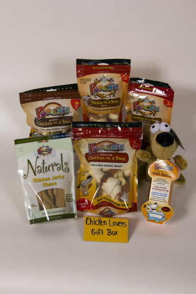 """Poochie """"Chicken Lover's""""  Value Gift Bowl Packed with Poochie Dog Treats & NO fillers!!"""