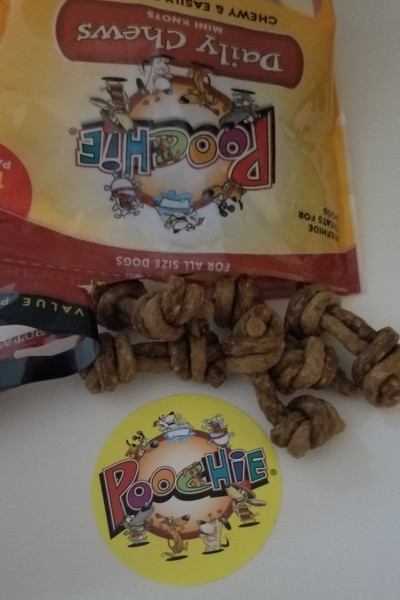 """""""MICRO"""" Double Knots Combo: 14 Chicken & Sweet Potato  & 14 Beef & Bacon Micro Knots =28Total Pack( view photos below to view double knot ends)"""