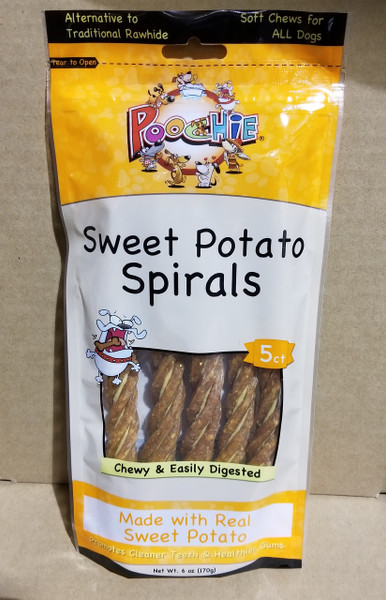 Poochie Sweet Potato Spirals