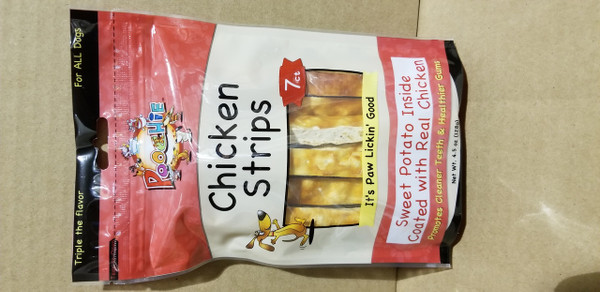 Poochie Chicken Strips with Real Sweet Potato Strips Coated With Real Chicken