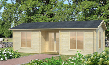 Anna 2 - 7.7m x 4.0m - 70mm Log Cabin