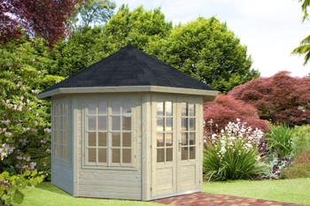 Veronica 3 - 4 Windows - 3.37m x 3.37m - 34mm Summerhouse