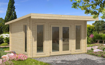 Barbados 3 70 - 4.0m x 3.1m - 70mm Log Cabin - Under 2.5m