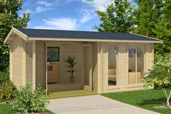LM Brighton 70 - 5.2m x 3.7m - 70mm Log Cabin - Under 2.5m