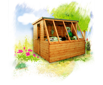 The Albany Dual Potting Shed/Workshop from Cabins Unlimited.