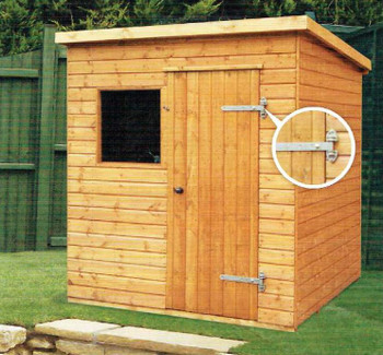 The Major Pent Shed comes as standard with Windows however can be reversed in design if required.