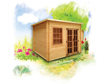 Charnwood Budget Pent Log Cabin - Variety of Sizes