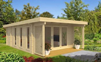 Exeter 1 - 5.24m x 3.9m - 70mm Log Cabin - Under 2.5m