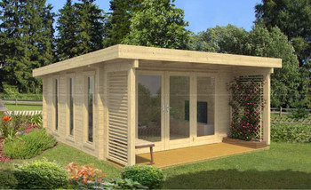 Exeter 2 - 3.9m x 3.97m - 70mm Log Cabin - Under 2.5m