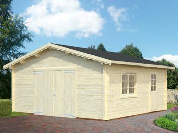 Roger Garage 3 - 5.4m x 5.4m - 70mm Log Garage