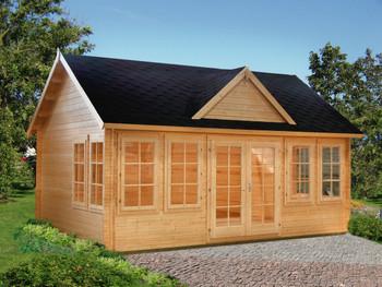 Claudia 3 - 5.3m x 3.8m - 44mm Log Cabin