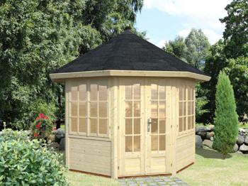 Veronica 1 - 2 Windows - 3.0m x 3.0m - 28mm Log Cabin