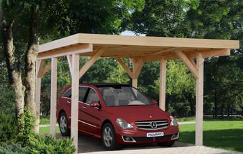 Karl 1 - 3.6m x 5.1m - Wooden Car Shelter - Under 2.5m